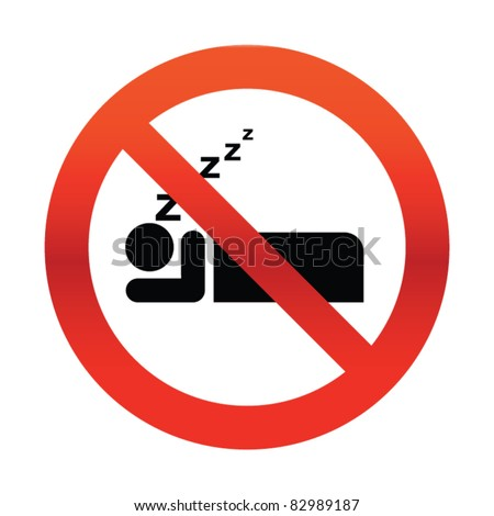 No Snoring Sign - stock vector