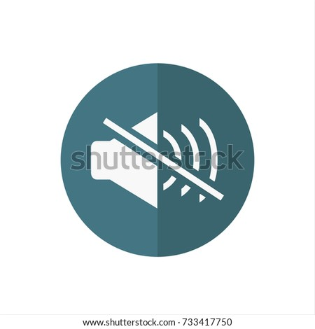 No sound icon in trendy flat style isolated on white background. No sound icon symbol for your web site design,No sound logo, app, UI. Vector illustration, No sound icon eps10.