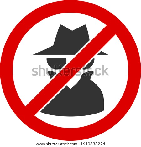 No spy vector icon. Flat No spy symbol is isolated on a white background. Foto stock ©