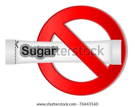 no sugar sign