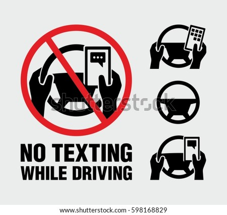 no texting  no cell phone use