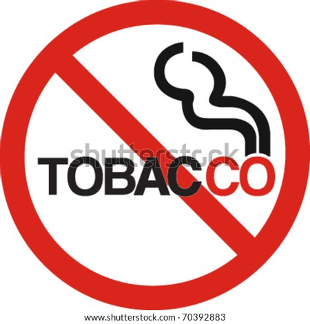 No tobacco company sign in vector