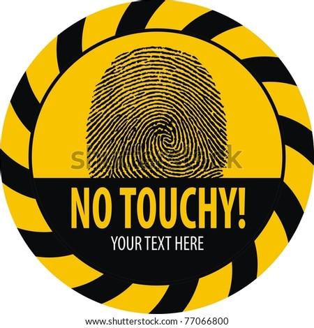 No Touching Stock Vector Illustration 77066800 : Shutterstock