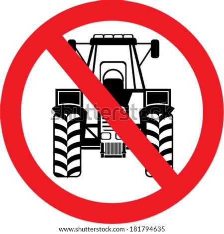 no tractors here