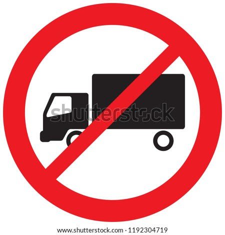 no truck sign (no parking symbol, prohibition icon)