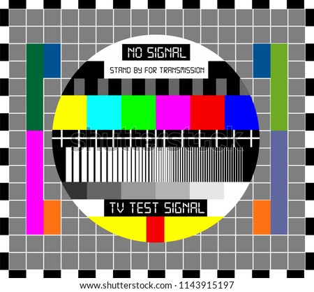 No TV Signal Chanel Program Background Template, Design Vector Eps 10