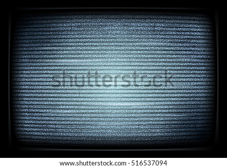 No TV signal on retro televisor, interference, television noise.