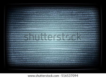 No TV signal on retro televisor, interference, television noise . Vector illustration