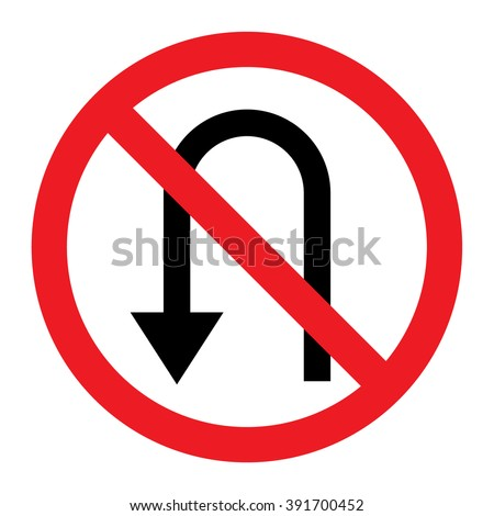 no u turn sign clip art free vector 4vector