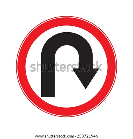 No U Turn Right  Sign