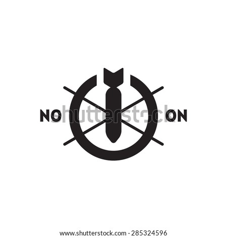 no war concept vector