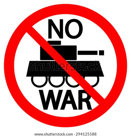 no war sign on white background