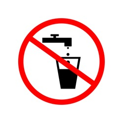 No water drinking sign.