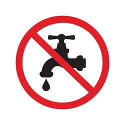 No water tap sign icon vector simple design