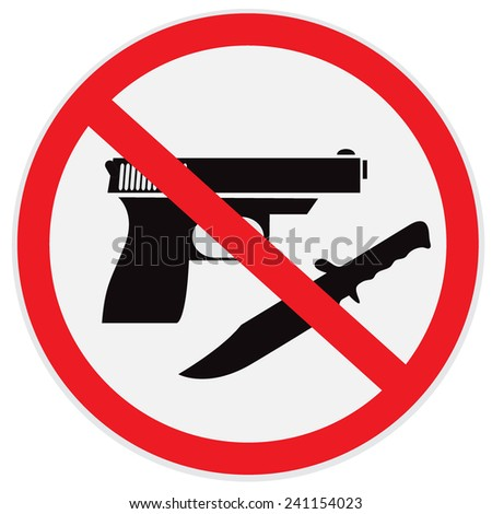 no weapon allowed  prohibited
