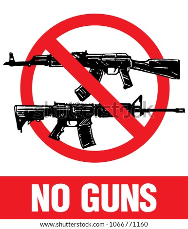no weapon no guns sign  vector