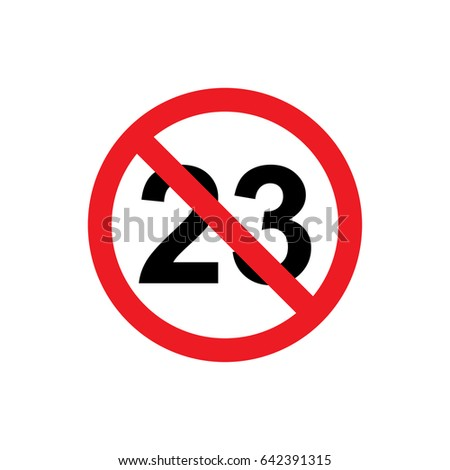 no 23 years icon illustration