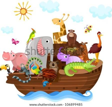 Noah's Ark - stock vector