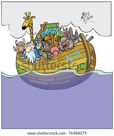 Noah's Ark cartoon.