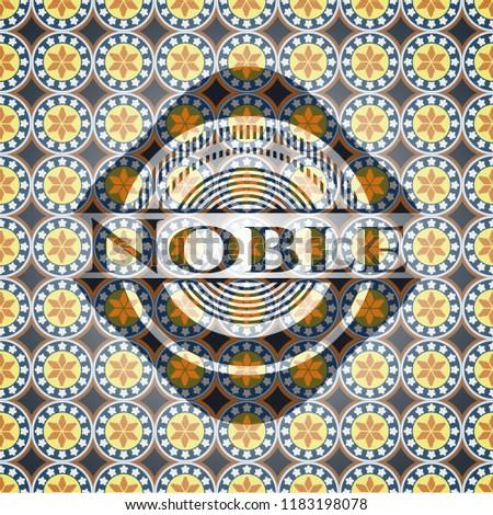 Noble arabic emblem. Arabesque decoration.