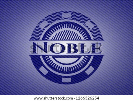 Noble badge with denim texture