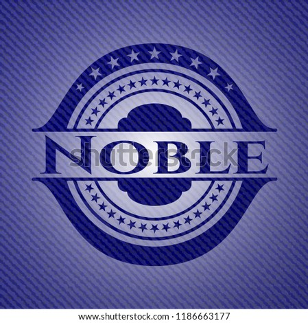 Noble badge with jean texture