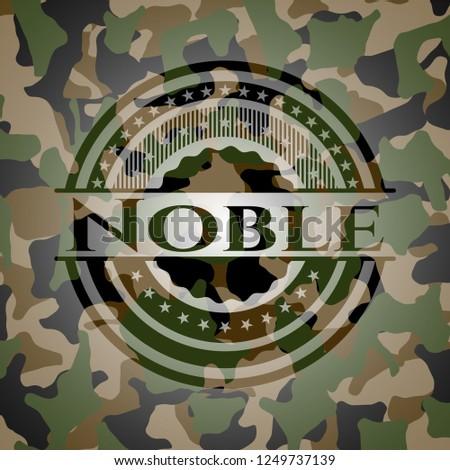 Noble camouflage emblem