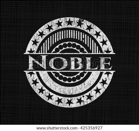 Noble chalk emblem, retro style, chalk or chalkboard texture
