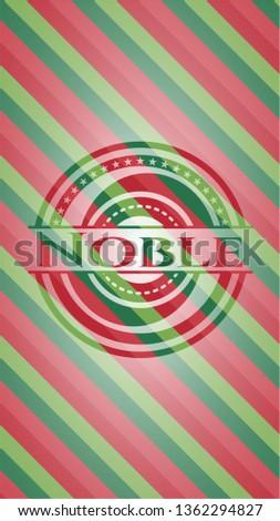 Noble christmas badge.