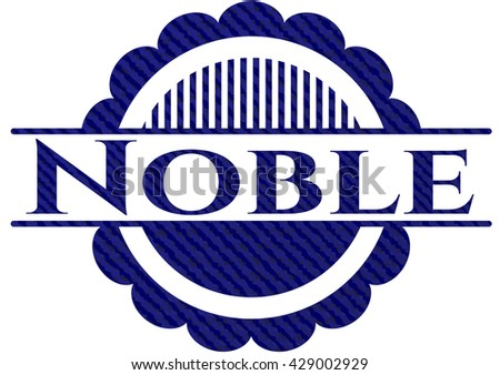 Noble emblem with jean texture
