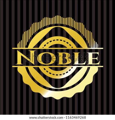 Noble gold shiny badge