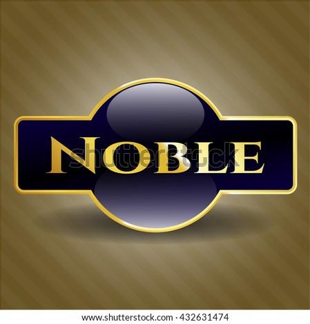 Noble golden badge