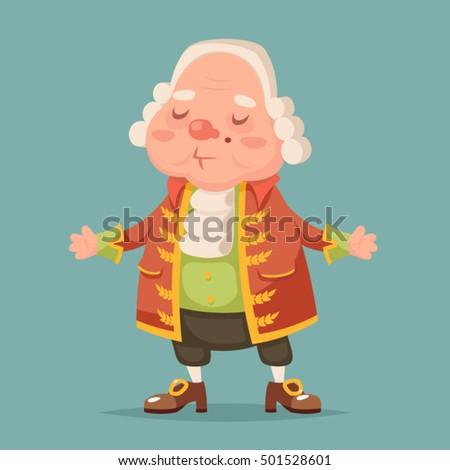Noble medieval aristocrat mascot cartoon design vector illustration