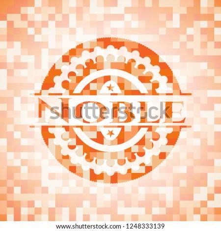 Noble orange mosaic emblem