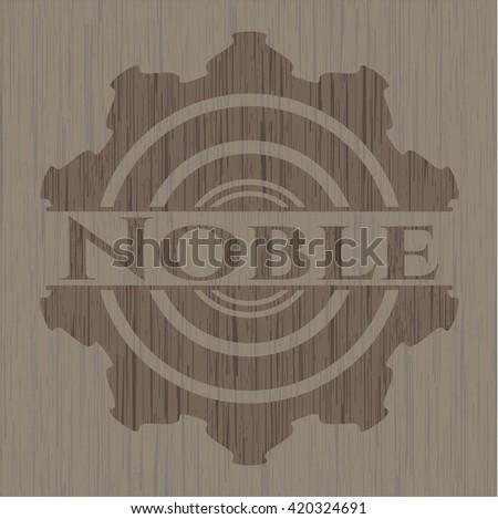 Noble realistic wooden emblem
