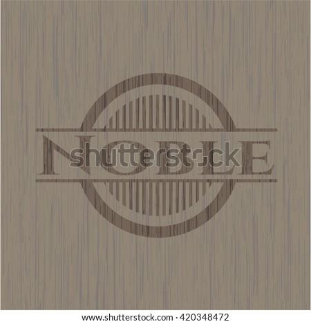 Noble retro style wood emblem