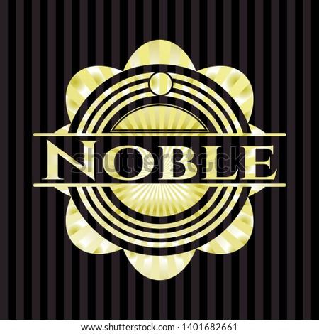 Noble shiny emblem. Vector Illustration. Detailed.