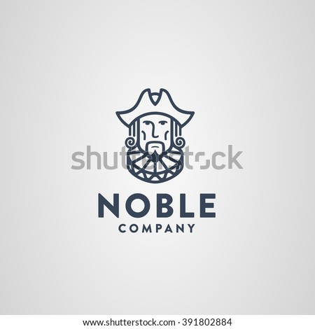 Noble Symbol. Aristocrat Decked Out in Cocked Hat & Ruff Collar. Memorable Visual Metaphor. Represents the Concept of Nobility Luxury Elegance Fashion Education Beauty Scholarship Subtlety etc.