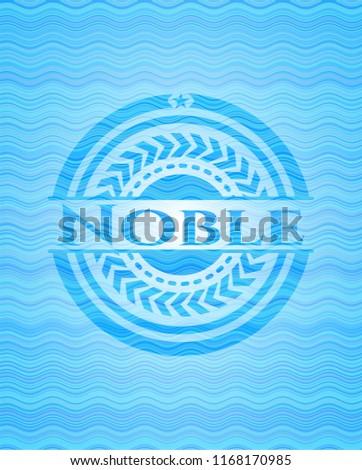 Noble water representation badge background.
