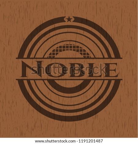 Noble wood emblem. Vintage.