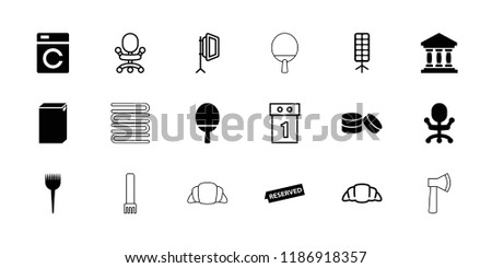 Nobody icon. collection of 18 nobody filled and outline icons such as washing machine, barber brush, office chair, soft box. editable nobody icons for web and mobile.