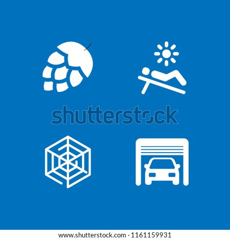 nobody icon. 4 nobody set with artichoke, parking, spider web and beach vector icons for web and mobile app