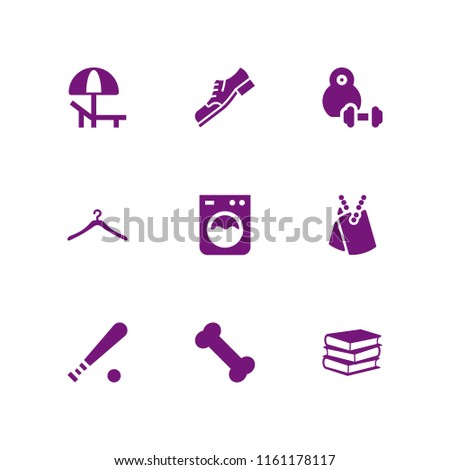 nobody icon. 9 nobody set with beach, book, dumbell and laundry vector icons for web and mobile app