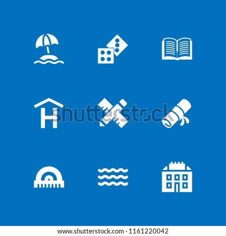 nobody icon. 9 nobody set with school materials, paper, hotel and ruler vector icons for web and mobile app