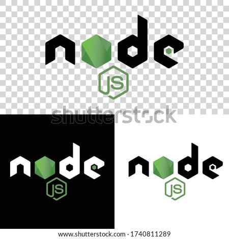 Node Js framework, web development sign.