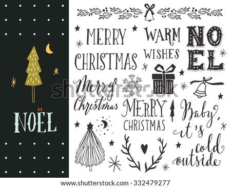 noel hand drawn christmas