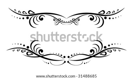 stock vector Non figurative lower back tattoo