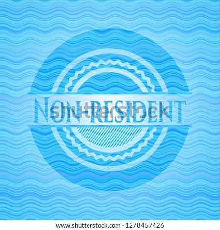 Non-resident water representation emblem.