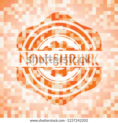 Non-shrink abstract orange mosaic emblem