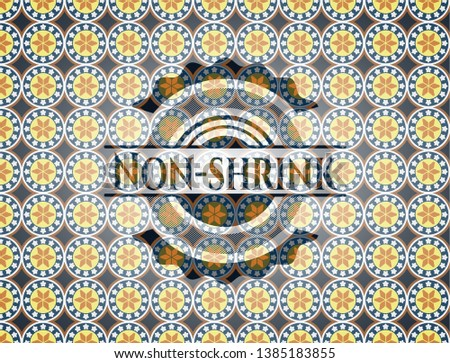Non-shrink arabesque badge. arabic decoration.